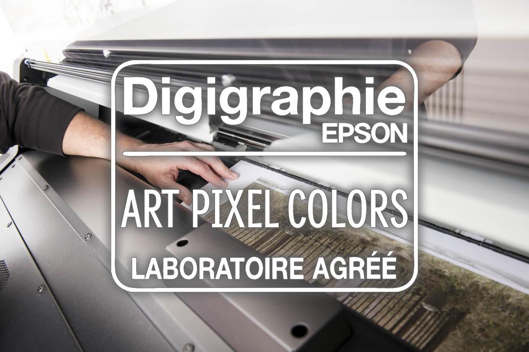Logo Digigraphie avec image de sortie d'impression